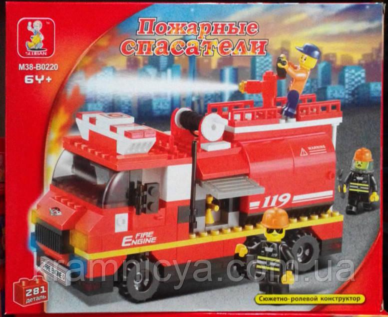 """Конструктор """"Пожарные спасатели"""", 281 деталь, SLUBAN M38-B0220R"""