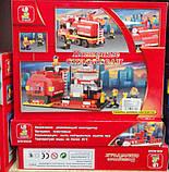 """Конструктор """"Пожарные спасатели"""", 281 деталь, SLUBAN M38-B0220R, фото 3"""