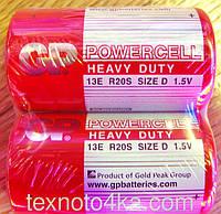 Батарейки GP Powercell D 13E R20S 1.5V, фото 1