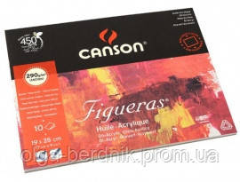 Блок для рисования Oil-Acrylic Figueras Canson 290 гр