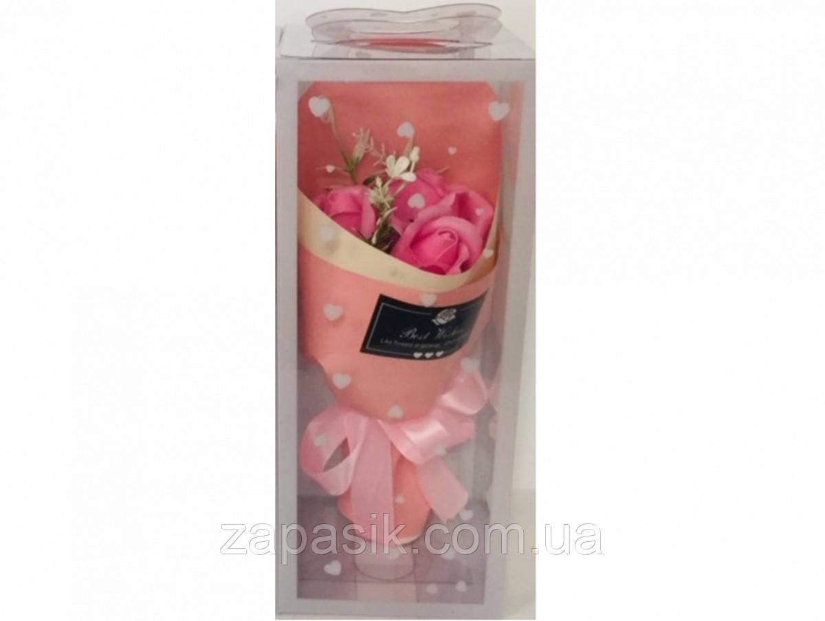 Букет Роз Ароматическое Мыло День Святого Валентина 8 Марта Любимым Подарок 5 букетов в Упаковке