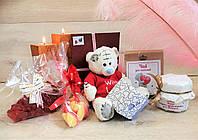 """Подарочный набор с милым мишкой """"For you"""" с именным поздравительным письмом"""