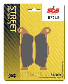 Мото колодки SBS 671LS синтетика KTM EXC /SUZUKI Burgman/YAMAHA Tenere XT/BMW/DUCATI аналог FDB2018