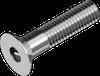 Винт М3х6 с потайной головкой с внутренним шестигранником, сталь кл. пр. 8.8, ЦБ, DIN 7991