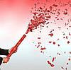 Пневмохлопушка Лепестки Роз Романтика День Влюбленных Свадьба 8 Марта Упаковка 10 шт, фото 2