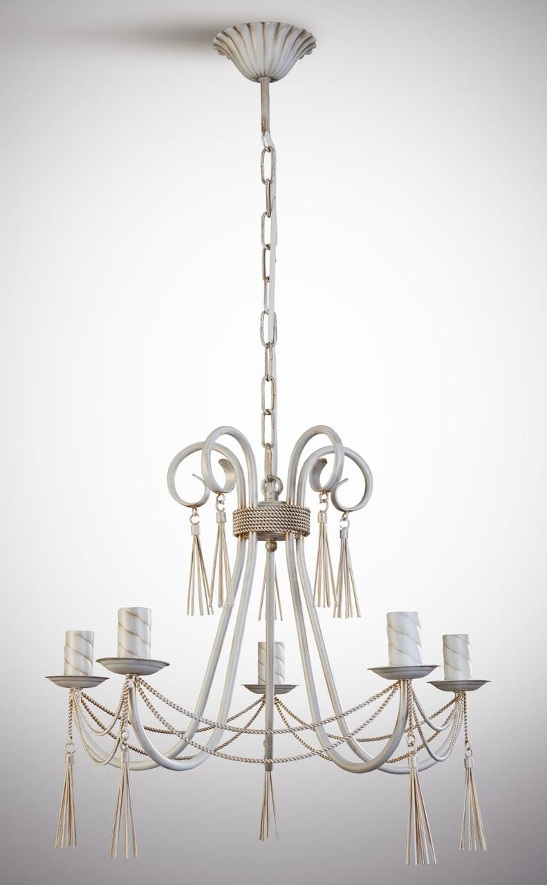 Люстра классическая 5-ти ламповая для спальни, зала, холла, небольшой комнаты.  8305