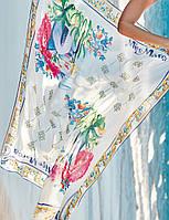 Парео с цветным рисунком Miss Marea 19441 P One Size Белый MissMarea 19441 P