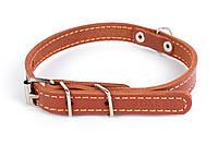 Ошейник COLLAR одинарный, 14мм/ 27-35см 00036, коричневый