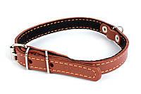 Ошейник COLLAR с синтепоном, 14мм/ 27-35см 00086, коричневый
