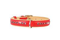 Ошейник COLLAR brilliance с большими стразами, ширина 25мм, длина 38-49см, 38793, красный
