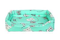 Лежак для котов и собак Collar Теремок, Лежанка прямоугольная №2 3984, 36х48х14 см