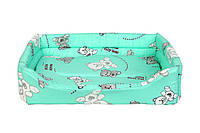 Лежак для котов и собак Collar Теремок, Лежанка прямоугольная №3 3985, 43х56х16 см