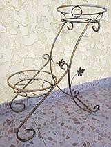"""Подставка кованая для цветов """"Сани"""" на 2 вазона, фото 3"""