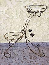 """Подставка кованая для цветов """"Сани"""" на 2 вазона, фото 2"""