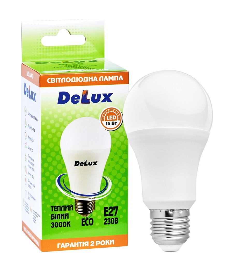 Светодиодная лампа DELUX BL 60 15Вт 3000K 220В E27