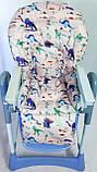Односторонний чехол на стульчик для кормления Capella ABC design Joy Baby и подобные, фото 4