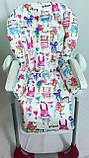 Односторонний чехол на стульчик для кормления Capella ABC design Joy Baby и подобные, фото 8