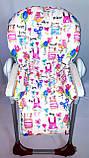 Односторонний чехол на стульчик для кормления Capella ABC design Joy Baby и подобные, фото 6