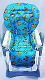 Односторонний чехол на стульчик для кормления Capella ABC design Joy Baby и подобные, фото 10