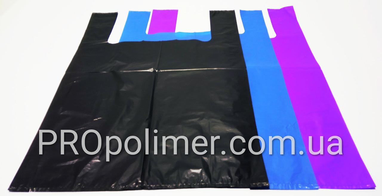 Пакеты полиэтиленовые, кульки тип майка, БМВ, размер 40*60 см, плотный 40 мкм