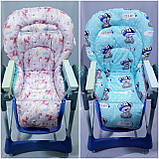 Двухсторонний чехол на стульчик для кормления Capella ABC design Joy Baby и подобные, фото 7