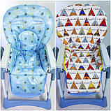 Двухсторонний чехол на стульчик для кормления Capella ABC design Joy Baby и подобные, фото 4