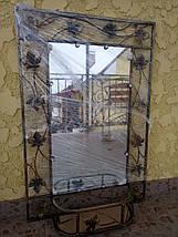 Зеркало в кованой раме большое с полкой, фото 3