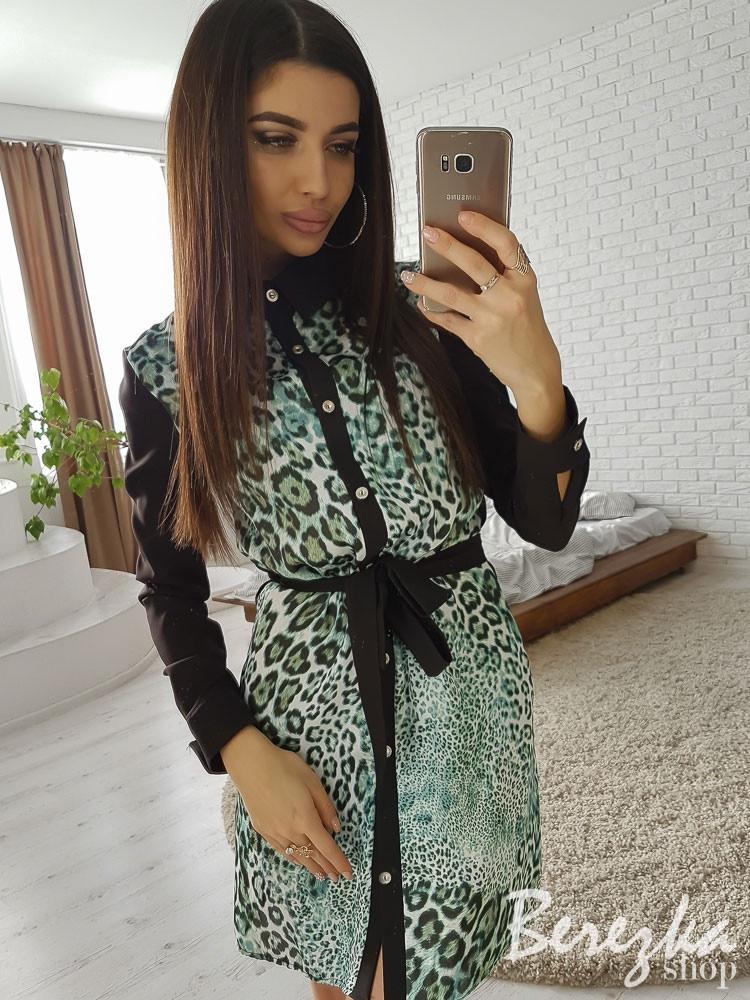 f652532105f Модное женское платье (леопардовый принт