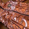 Весенние детские курточки для девочек блестящие, фото 4