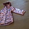 Весенние детские курточки для девочек блестящие, фото 2