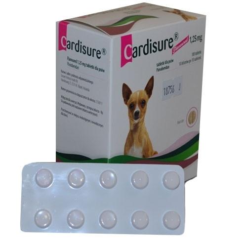 CARDISURE 1,25 mg КАРДИШУР 1,25 мг 100 табл. Для лечения сердечной недостаточности у собак