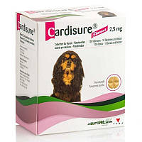 CARDISURE 2,5 mg КАРДИШУР 2,5 мг 100 табл. Для лікування серцевої недостатності у собак