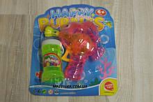 Мильні бульбашки арт 9905 пістолет 12 см,світло,запаска,на батарейці,на аркуші,18-21,5-5,5 см рожевий