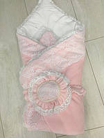 """Весенний конверт-одеяло на выписку для девочки """"Розовый цветок"""", фото 1"""
