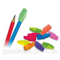 Ластик-колпачек на карандаш, микс цветов, дисплей TM Colorino Colorino