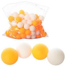Теннисные шарики, 40мм, PP, шовный, 1 упаковка 144шт, 2 цвета, в пак. 33*27см (2880шт)