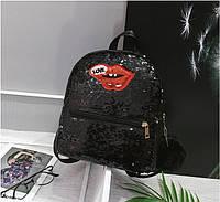 0488 Рюкзак женский  эко  кожа  черный