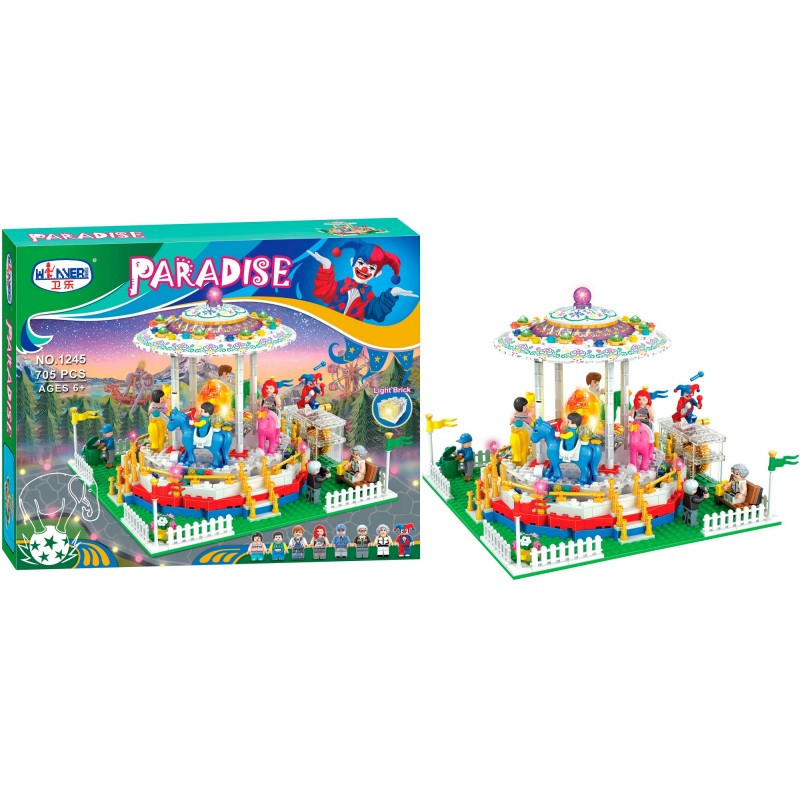 """Конструктор """"Парк аттракционов"""" Bela Paradise 1245 705 деталей"""