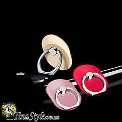 Держатель для телефона Кольцо 3 цвета овал овальная форма на палец металл PopSocket Попсокет попсокеты черный
