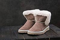 Ботинки Best Vak УГ 44 -01 (Ugg) (зима, женские, замша, какао)