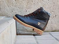 Ботинки Yuves ZTP (зима, подростковые, натуральная кожа, коричневый)