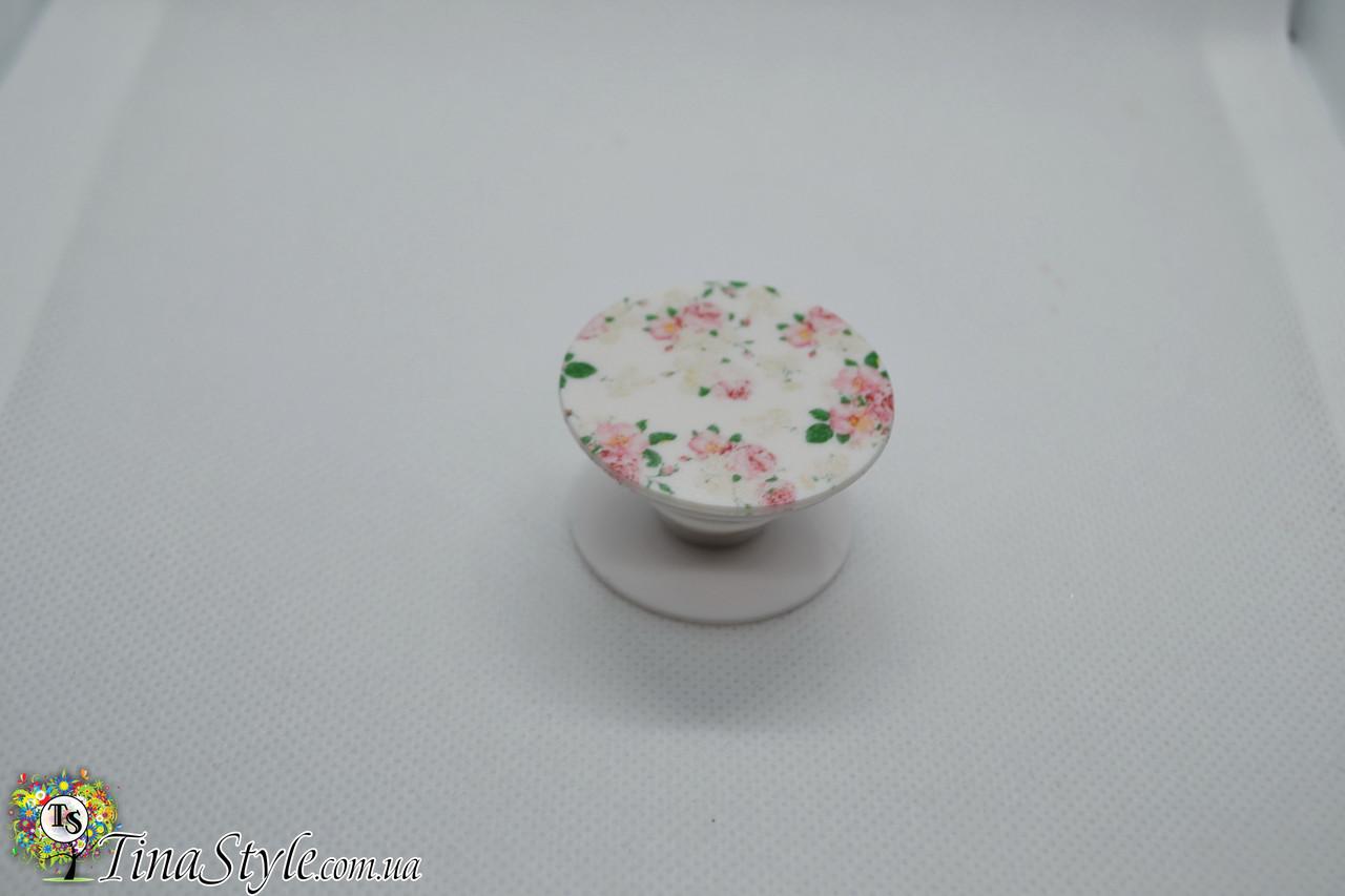 Держатель для телефона Flower цветы цветок PopSocket Попсокет Поп сокет попсокеты