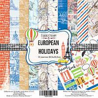 """НАБОР СКРАПБУМАГИ """"EUROPEAN HOLIDAYS"""", 30,5X30,5СМ, ФАБРИКА ДЕКОРУ"""