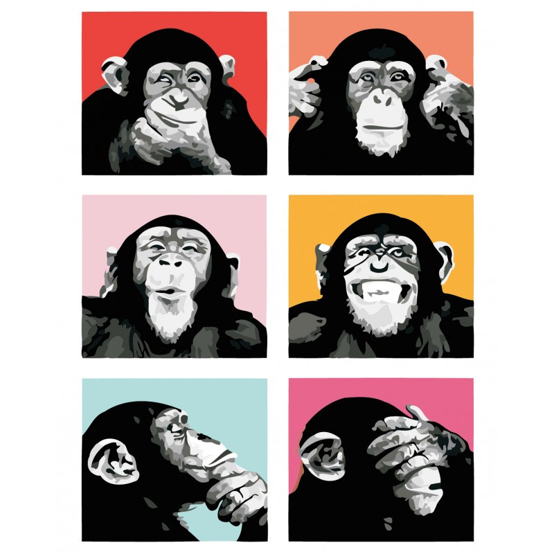 "Роспись по номерам ""Эмоции"" в кор. 40*50см, ТМ ArtStory Артикул: AS0396 Ухти-Тухти Кривой Рог"
