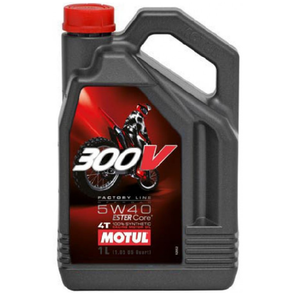 Масло моторное Motul 300V 4T Factory Line Off Road 5W-40 4л
