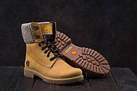 Ботинки Best Vak БЖ 35 -07 (Timberland) (зима, женские, нубук, рыжий)