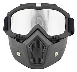 Маска-трансформер для лыжников и сноубордистов VJTech зеркальная