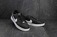 Кеды A 535 -3 (Nike AirForce) (весна/осень, мужские, искусственная кожа, черный)