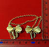 Зажим для комірця на шпильці золото (бантики), фото 4