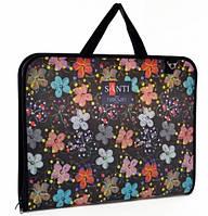 """Папка- портфель для эскизов А3, пластиковая """"Flowers"""", (367*30*495мм)"""